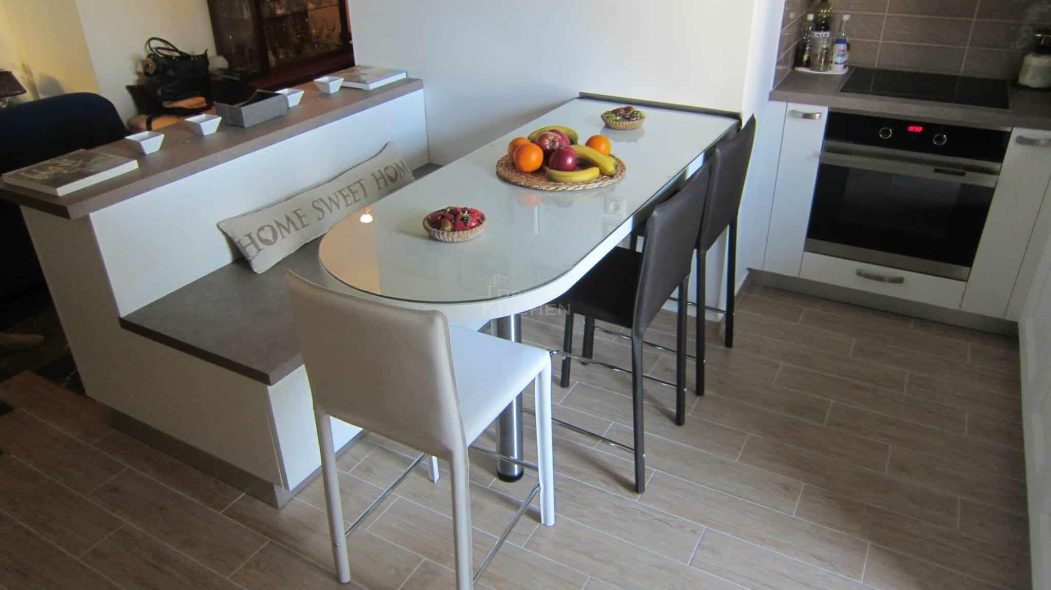 Κουζινα Πολυμερικο σε λευκο χρωματισμο 7