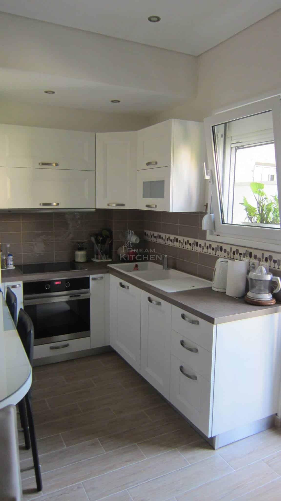 Κουζινα Πολυμερικο σε λευκο χρωματισμο 8