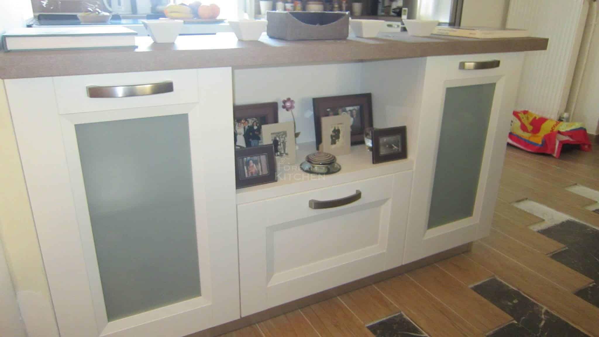 Κουζινα Πολυμερικο σε λευκο χρωματισμο 10