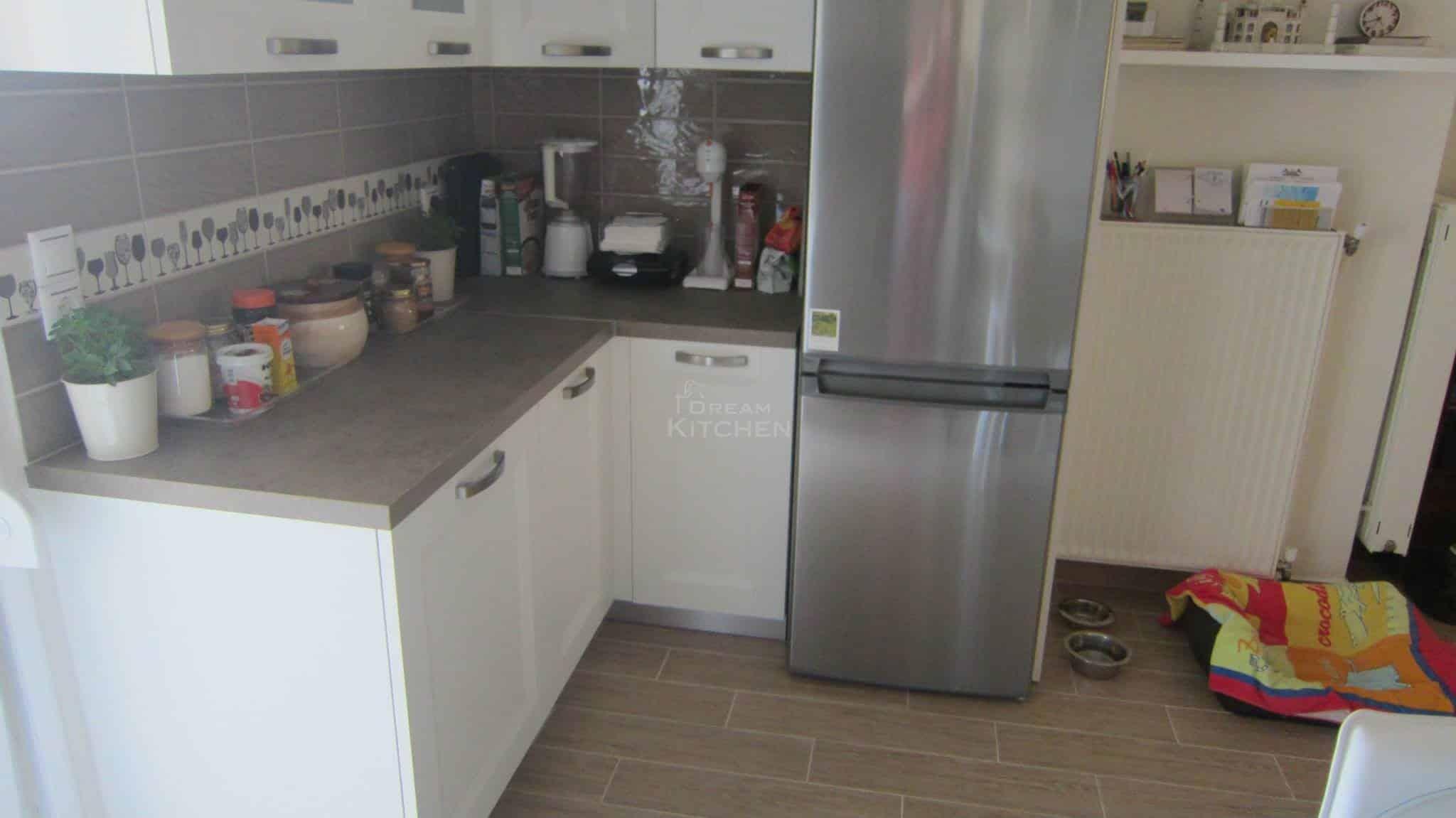 Κουζινα Πολυμερικο σε λευκο χρωματισμο 12