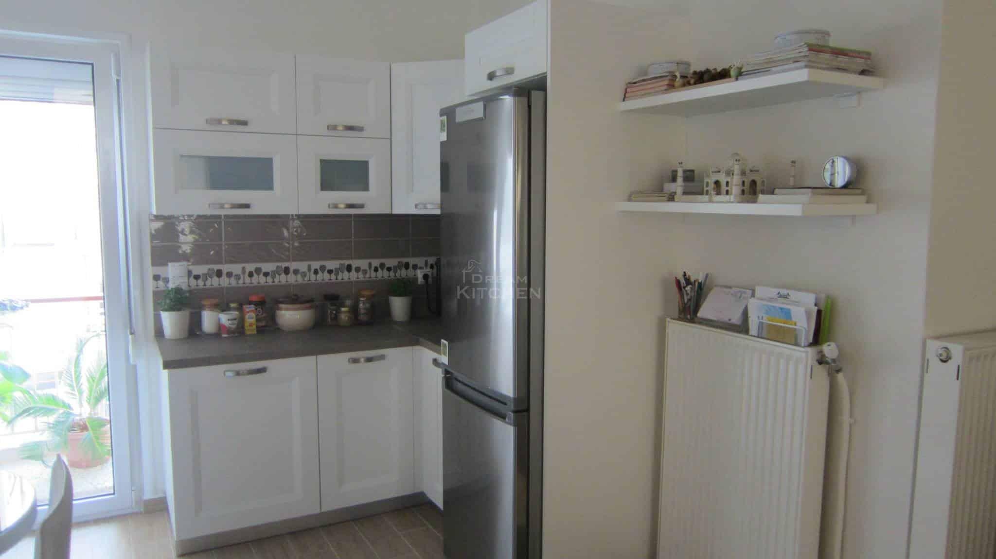 Κουζινα Πολυμερικο σε λευκο χρωματισμο 13