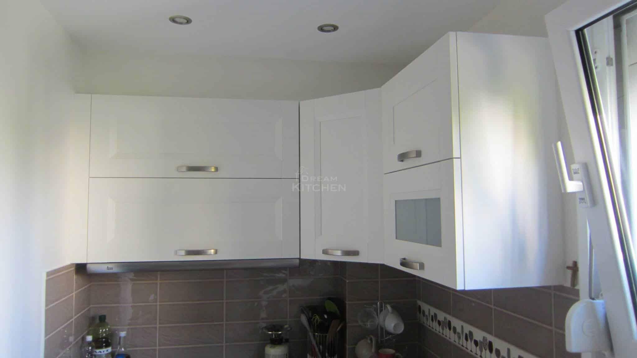 Κουζινα Πολυμερικο σε λευκο χρωματισμο 15