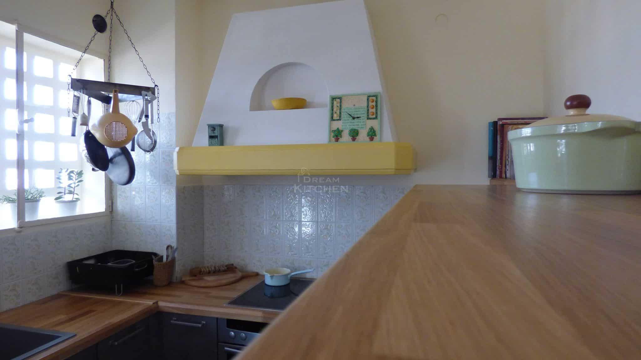 Κουζινα Τσιμεντενια με Μασιφ Παγκο 8