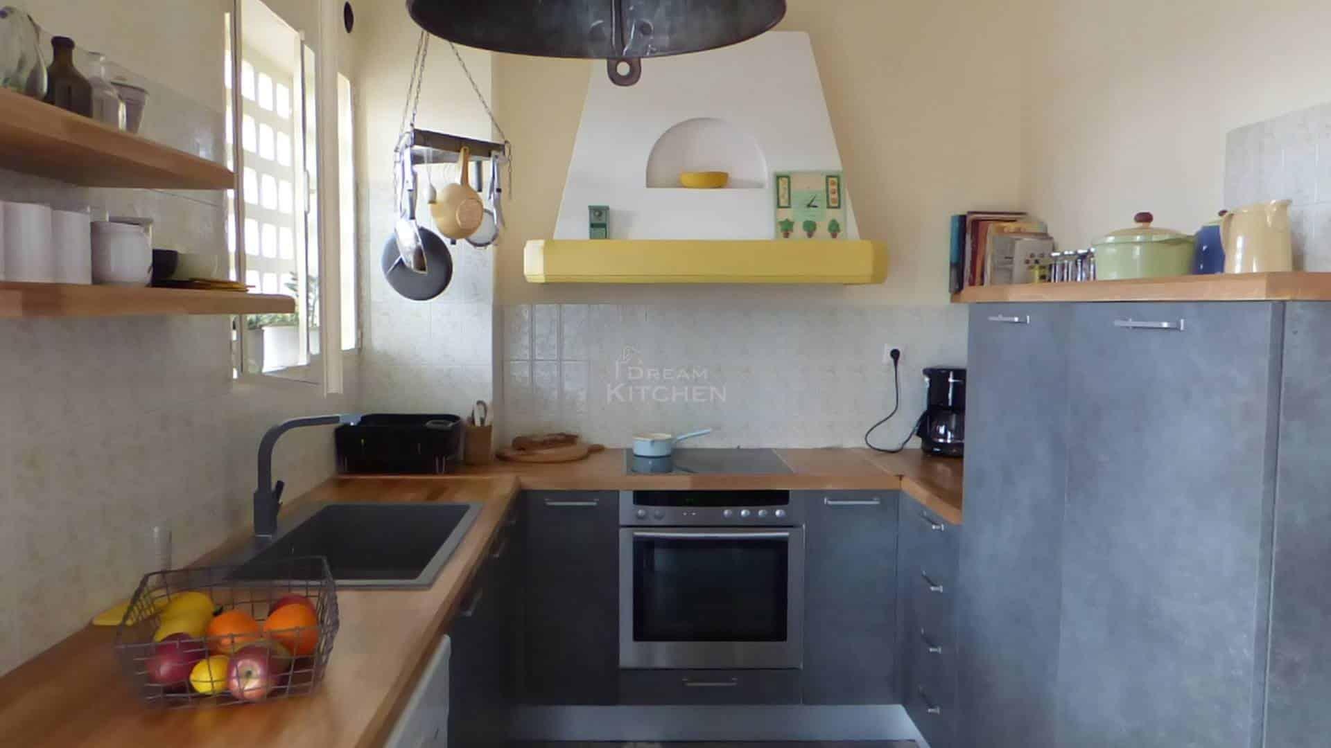 Κουζινα Τσιμεντενια με Μασιφ Παγκο 39
