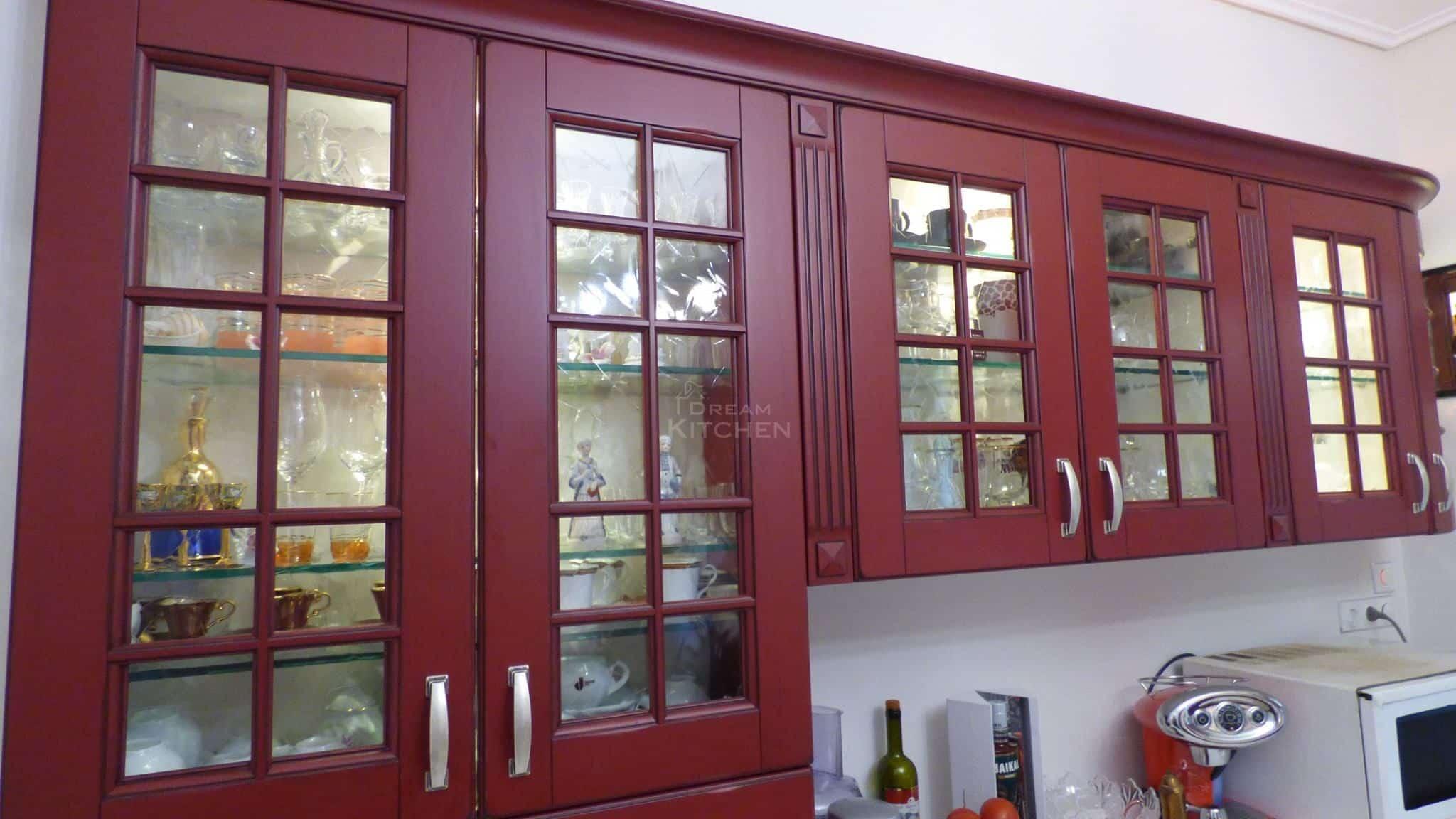 Επιπλα Κουζινας Μασιφ Eva Bordeaux China Patinato 13