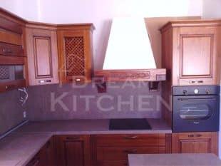 Επιπλα Κουζινας Μασιφ Ξυλο σε χρωματισμο Καστανια 2