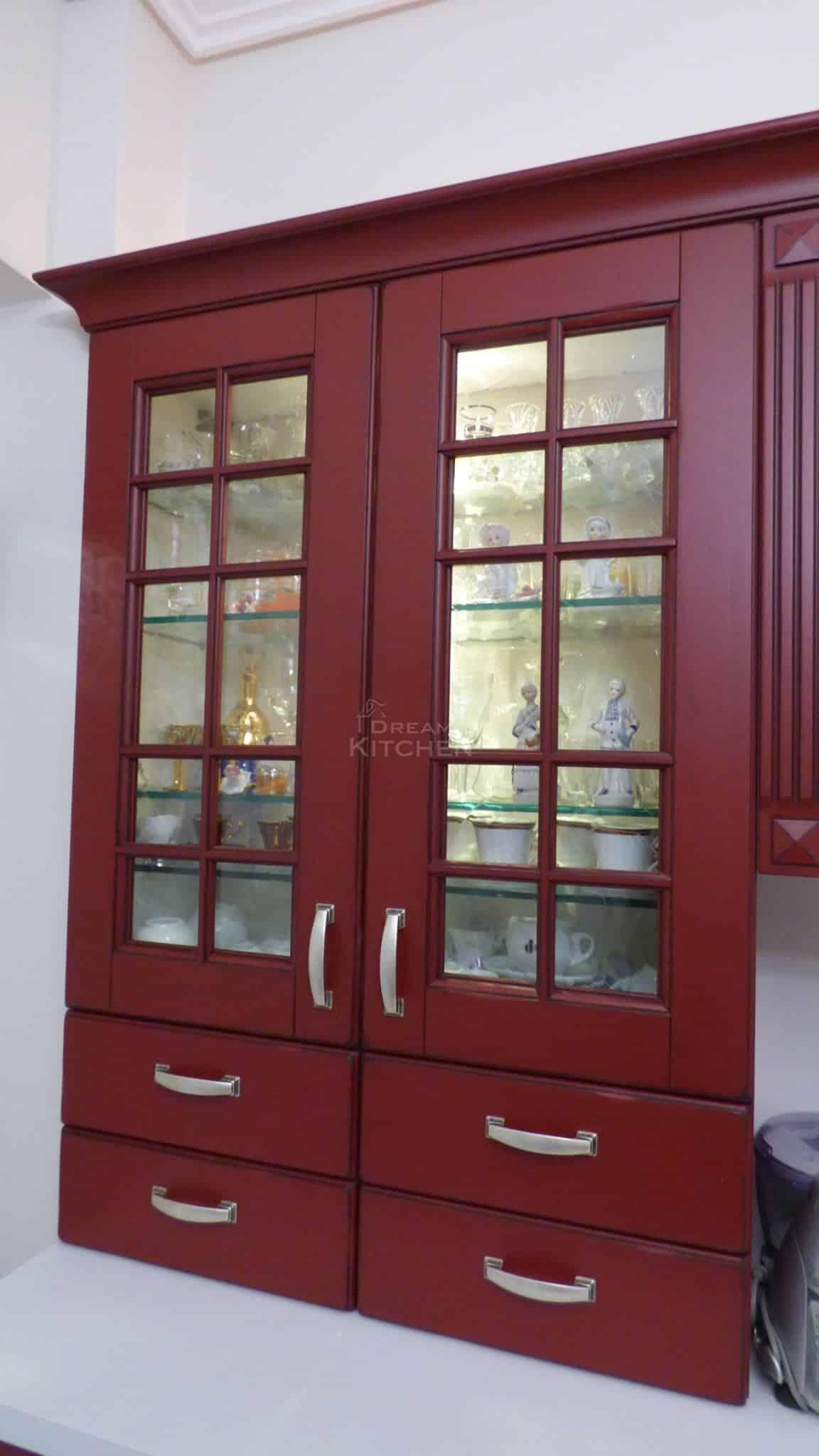 Επιπλα Κουζινας Μασιφ Eva Bordeaux China Patinato 18