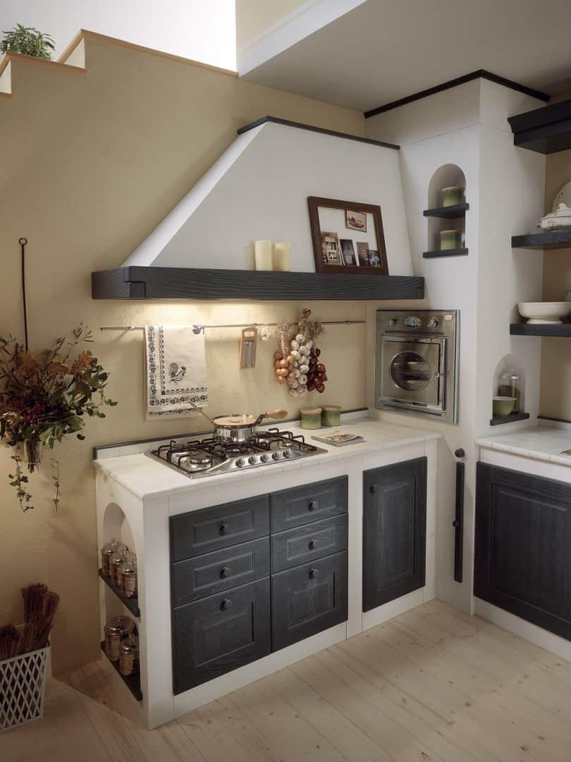 Isotta μασίφ κουζίνα γκρι ντεκαπέ