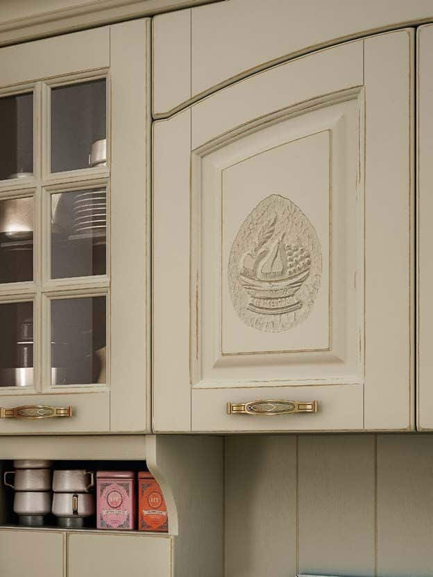 SOFIA μασίφ κουζίνα μπεζ με ξέβγαλμα