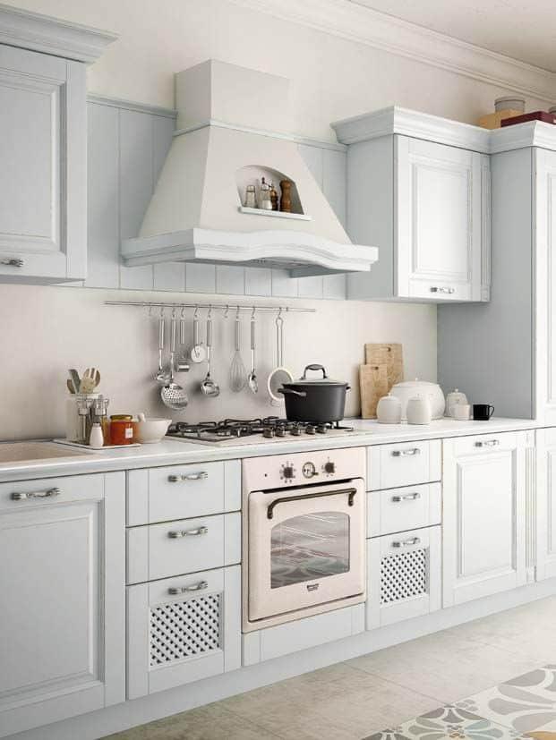 SOFIA μασίφ κουζίνα γαλάζια με ξέβγαλμα