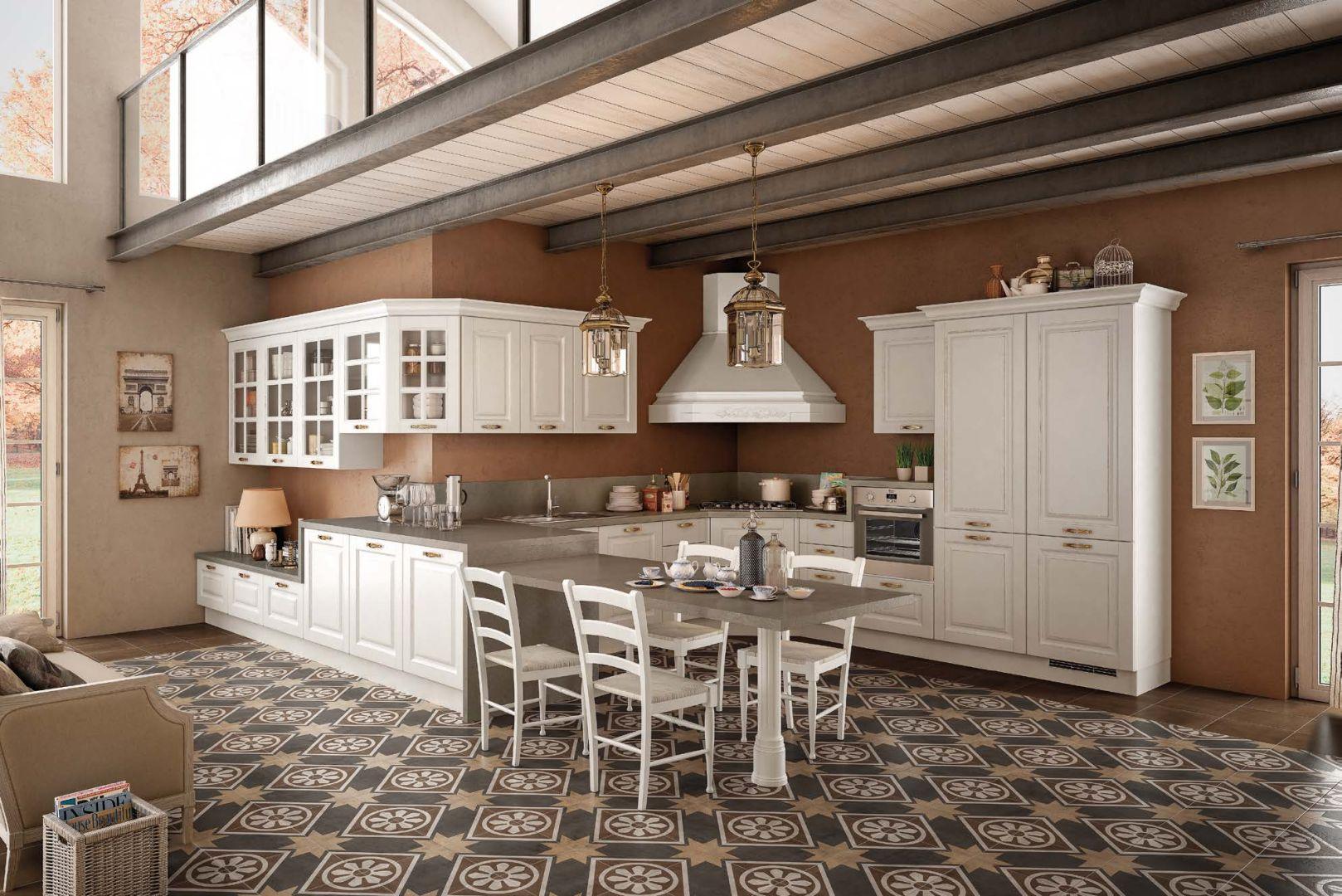 SOFIA μασίφ κουζίνα λευκό με ξέβγαλμα