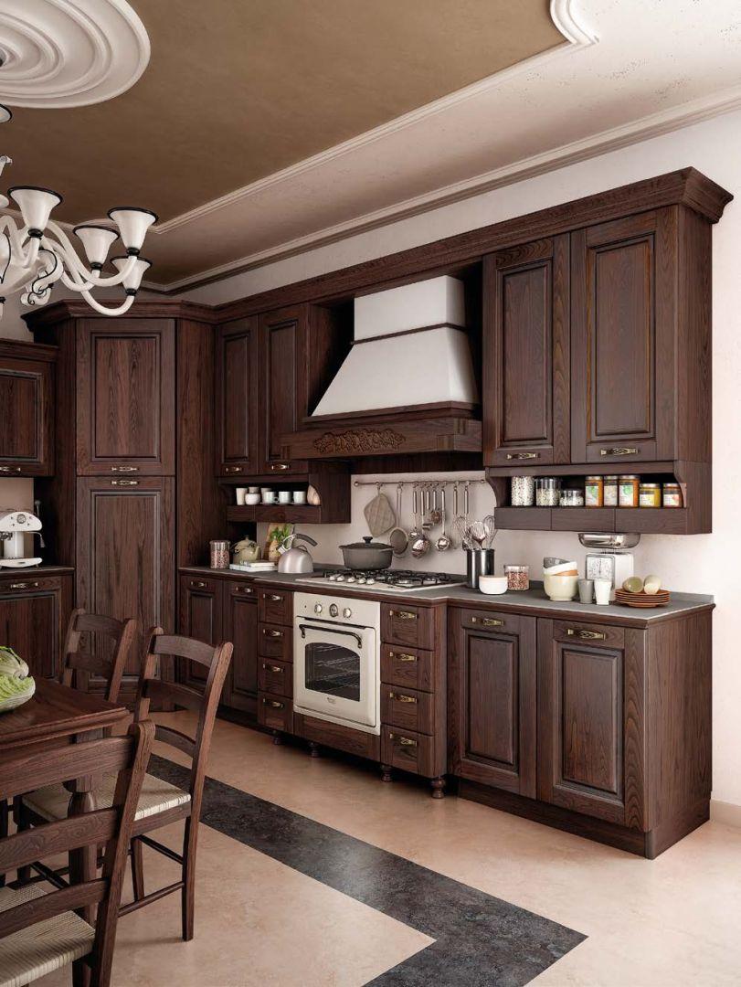 SOFIA μασίφ κουζίνα καρυδιά σκούρη