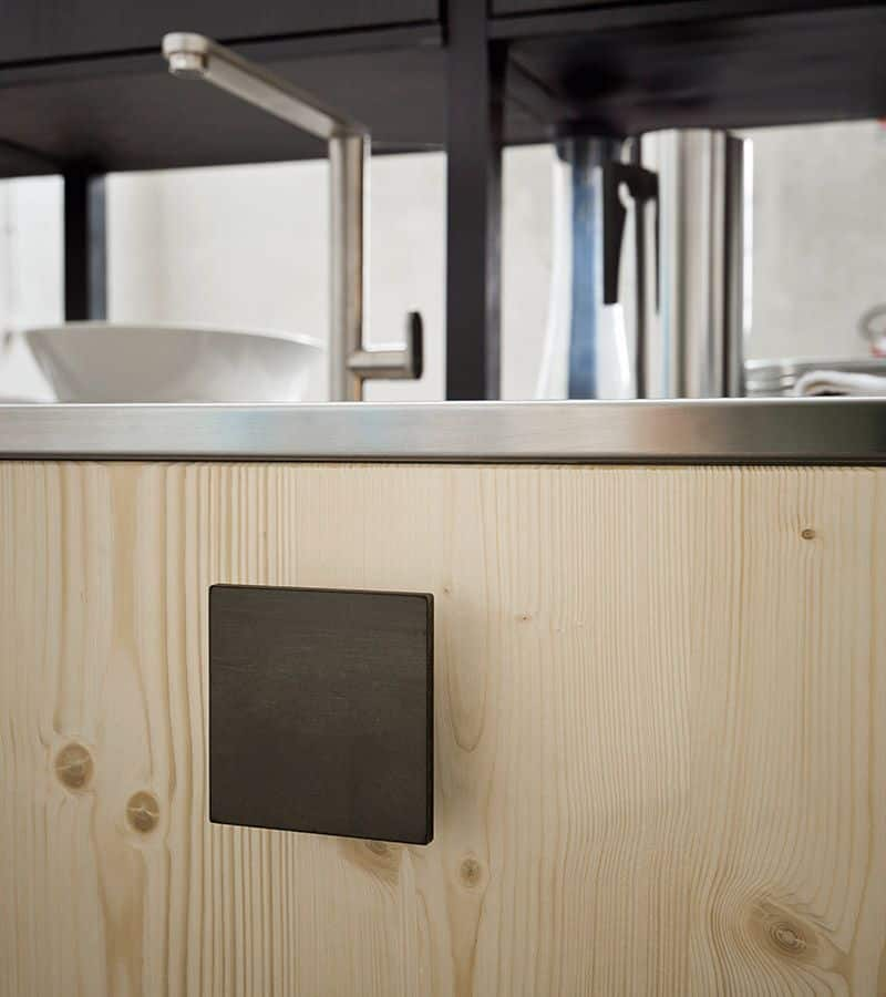 μασίφ κουζίνα fly φυσικό δρυς με ενσωματομένη λαβή