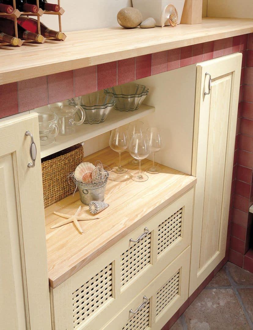 Valentina Μασίφ κουζίνα μπεζ