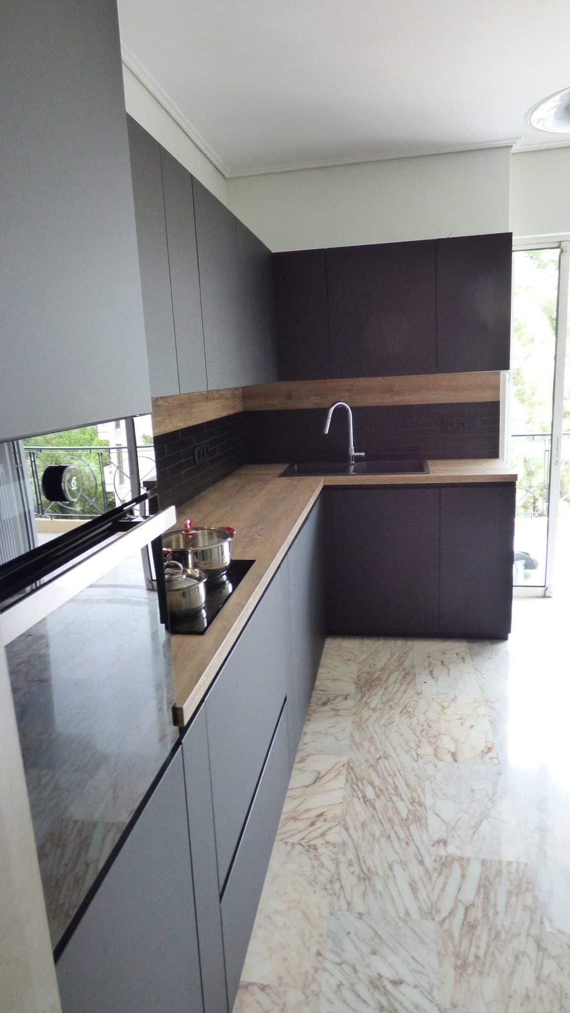 Επιπλα Κουζινας Fenix NTM® nero ingo 4